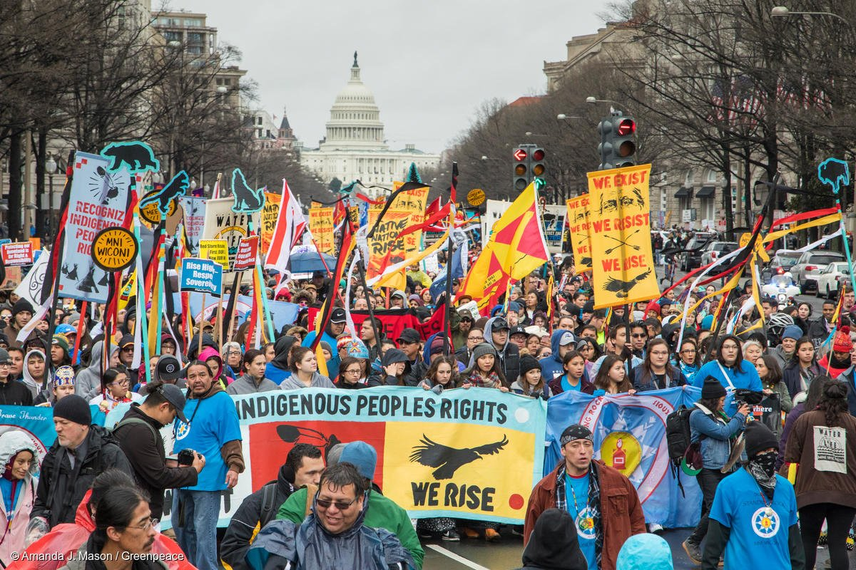 Thousands Rally in Support of Native Nation in Washington, D.C.