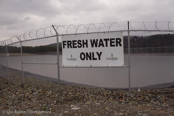 frack water storage
