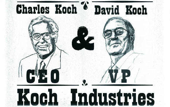 Greenpeace Koch Brothers Climate Criminals banner